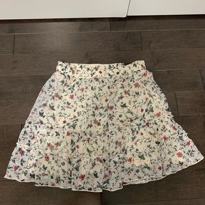 Abercrombie ruffle floral skirt
